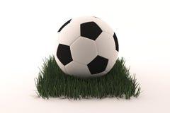 Sfera di calcio su erba illustrazione di stock