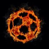 Sfera di calcio su fuoco illustrazione di stock
