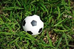 Sfera di calcio sull'erba. Immagini Stock Libere da Diritti