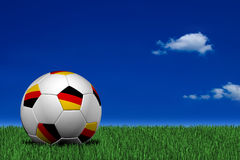 Sfera di calcio tedesca Fotografie Stock Libere da Diritti