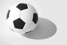 Sfera di calcio tridimensionale Fotografie Stock Libere da Diritti
