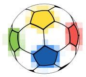 Sfera di calcio variopinta Fotografia Stock