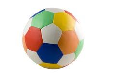 Sfera di calcio variopinta isolata Fotografia Stock Libera da Diritti