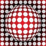 sfera di colore rosso di Op-arte Immagini Stock Libere da Diritti