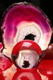 Sfera di cristallo astratta rossa Fotografie Stock Libere da Diritti