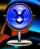 Sfera di cristallo dello zodiaco del Taurus Fotografia Stock
