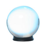 Sfera di cristallo guarnita blu Fotografie Stock