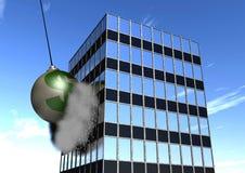 Sfera di distruzione finanziaria Immagini Stock Libere da Diritti
