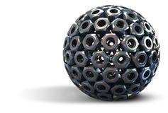 Sfera di formazione nuts dell'acciaio inossidabile Fotografie Stock Libere da Diritti