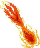 Sfera di fuoco Fotografie Stock