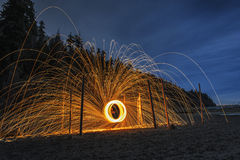 Sfera di fuoco Fotografie Stock Libere da Diritti