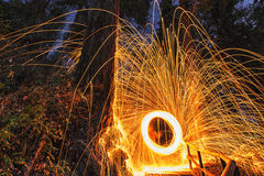 Sfera di fuoco Fotografia Stock