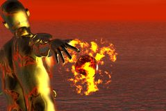 Sfera di fuoco Immagine Stock