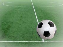 Sfera di gioco del calcio del campo fotografia stock libera da diritti