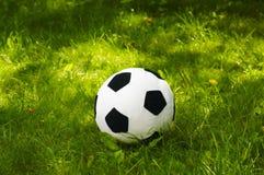 Sfera di gioco del calcio della peluche Immagine Stock