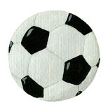 Sfera di gioco del calcio isolata su bianco Fotografie Stock