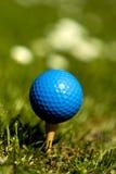 Sfera di golf blu 3 Immagini Stock