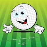 Sfera di golf divertente Fotografia Stock Libera da Diritti