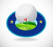 Sfera di golf e bello club di golf Immagine Stock Libera da Diritti