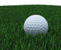 Sfera di golf in erba Fotografie Stock Libere da Diritti