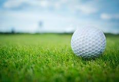 Sfera di golf nel colpo di grass fotografia stock libera da diritti