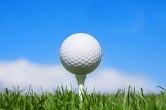 Sfera di golf orizzontale Immagine Stock