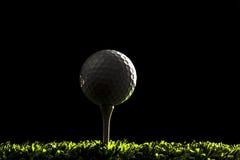 Sfera di golf su backround scuro 2 Immagine Stock Libera da Diritti