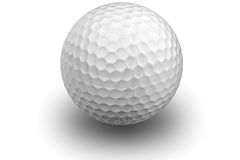 Sfera di golf su bianco Immagine Stock Libera da Diritti