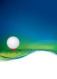 Sfera di golf su priorità bassa con lo spazio di zona della copia Immagini Stock
