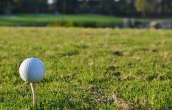 Sfera di golf su un T Fotografie Stock Libere da Diritti