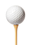 Sfera di golf su un T Immagine Stock