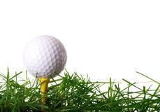 Sfera di golf sul T Fotografie Stock
