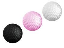sfera di golf tre Immagini Stock Libere da Diritti