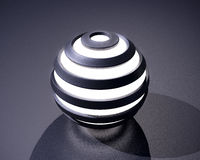 sfera di incandescenza dell'estratto 3D Fotografia Stock Libera da Diritti