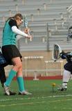 Sfera di lacrosse allentata Fotografia Stock Libera da Diritti