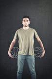 Sfera di pallacanestro Immagine Stock