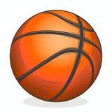 Sfera di pallacanestro isolata su una priorità bassa bianca Linea arte di colore Simbolo di forma fisica Immagini Stock Libere da Diritti