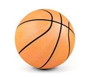 Sfera di pallacanestro su priorità bassa bianca Fotografie Stock Libere da Diritti