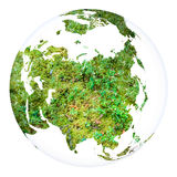 Sfera di progetto di concetto del pianeta Terra Bianco isolato Fotografie Stock