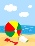 Sfera di spiaggia Immagine Stock Libera da Diritti