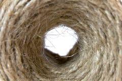 Sfera di stringa fatta di canapa Fotografia Stock Libera da Diritti