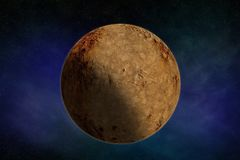 Sfera di struttura della luna del pianeta Fotografie Stock