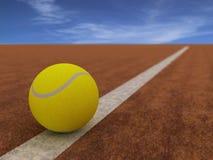 Sfera di tennis illustrazione vettoriale