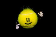 Sfera di tennis felice Fotografie Stock
