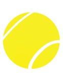 Sfera di tennis gialla Fotografia Stock