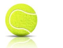 Sfera di tennis gialla Immagini Stock