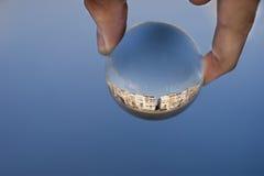 Sfera di vetro Immagini Stock