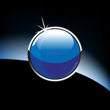 Sfera di vetro lucida Fotografia Stock