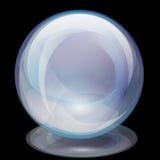 Sfera di vetro Perla-Trasparente Fotografia Stock