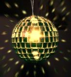 Sfera dorata della discoteca Immagini Stock Libere da Diritti